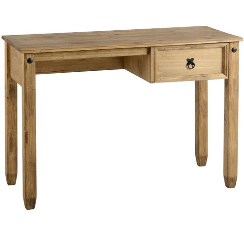 Pine Desk Corona Mexican Small 1 Drawer Wooden Computer Table Work Station