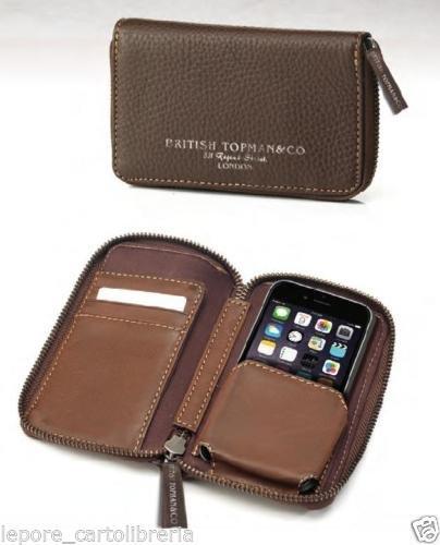 Borsello portacellulare per IPhone 5 e 6 - Vera pelle - British Topman&Co.