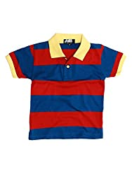 H&K BOY'S STRIPED POLO T-SHIRT