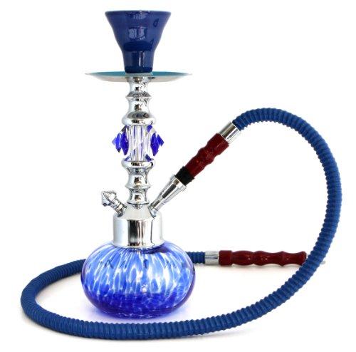 GSTAR-Premium-Series-11-1-Hose-Hookah-Complete-Set-Swirl-Mini-Glass-Vase-Ocean-Blue