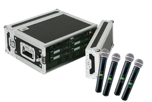 Shure Slx24/Sm58 6-Pack Wireless Handheld Microphone System