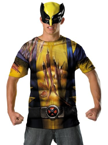 Wolverine Costume T-Shirt and Mask Easy Party Outfit Theatrical Mens Costume