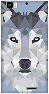 The Racoon Grip Ice Wolf Edged hard plastic printed back case / cover for Lenovo K900