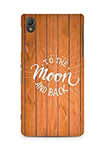AMEZ love you to the moon and back Back Cover For Sony Xperia Z2