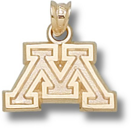 Minnesota Golden Gophers 10K Gold Block ''M'' Pendant