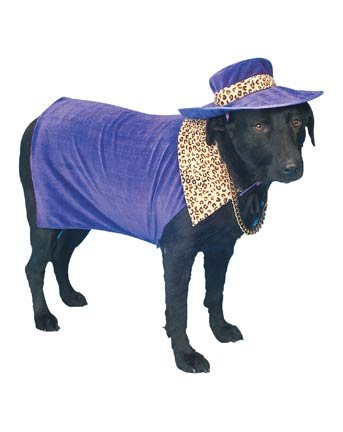 Fun Pet Halloween Costume Pimp Doggy