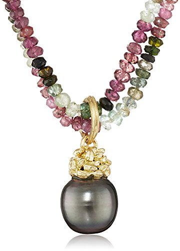 Gabrielle-Sanchez-18k-Yellow-Gold-Tourmaline-and-Tahitian-Cultured-Pearl-Double-Strand-Necklace-175