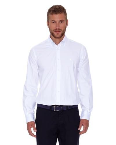 Polo Club Camicia Uomo Fitted Scudetto [Bianco]