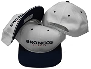 Buy Denver Broncos Vintage Two Tone White Navy Snapback Adjustable Plastic Snap Back Hat Cap by Sports... by Sports Specialties