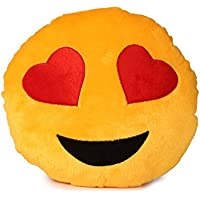 Dream Deals Heart Eyes Smiley Cushion - 35 Cm