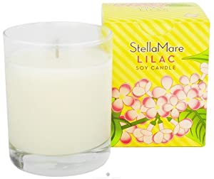 Stella Mare Lilac Soy 5 Ounce Candle In Glass