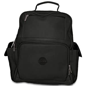 NBA Black Leather Large Computer Backpack by Pangea Brands
