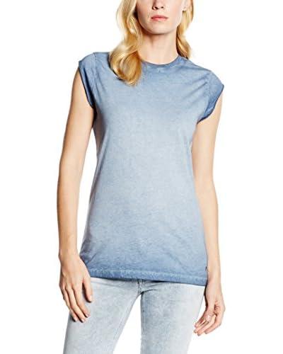 MELTIN'POT Camiseta Manga Corta Maria Azul Claro L