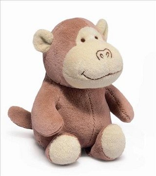 """Simply Natural Monkey 6.5"""" by Russ Berrie"""