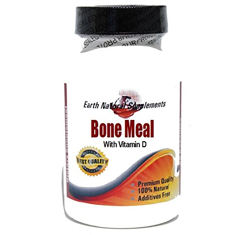 Bone Meal With Vitamin D * 100 Caps 100 % Natural - By Earhnaturalsupplements