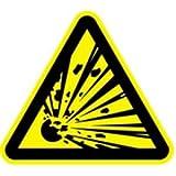 Aufkleber Warnzeichen Warnung vor explosionsgefährlichen Stoffen 20cm sl Folie