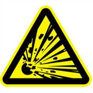 Aufkleber Warnzeichen Warnung vor explosionsgefährlichen Stoffen 10cm sl Folie hier kaufen