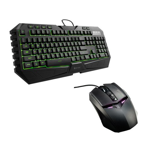 Cooler Master CM Storm Octane Multicolor LED Gaming Keyboard and Mouse Combo Bundle (SGB-3020-KKMF1-US) (Cooler Master Black compare prices)