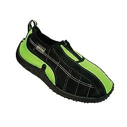 Rockin Footwear Kid\'s Aqua Colors Water Shoes (1, Green)