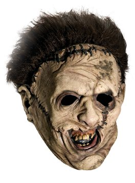 Rubie's Costume Co Texas Chainsaw Massacre Costume with Leather Face Mask, Gray, One Size