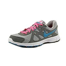 Nike Women\'s Revolution 2 Wlf Grey/N Trq/Cl Gry/Dgtl Pink Running Shoe 8 Women US