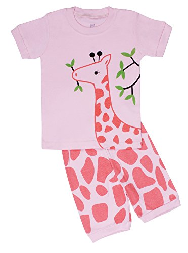 "Elowel Shorts ''Giraffe"" 2 Piece Pajama Set 100% Cotton - 2 Toddler front-926557"