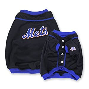 Sporty K9 New York Mets Baseball Dog Jersey, Small