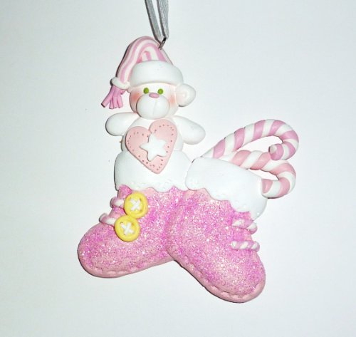 Ornament, Christmas - Baby, Pink Stockings, Personalized front-719186