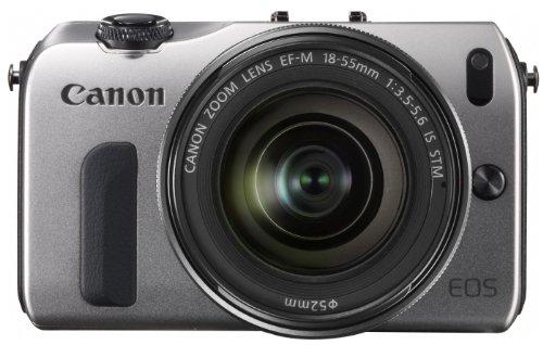 Canon ミラーレス一眼カメラ EOS M レンズキット EF-M18-55mm F3.5-5.6 IS STM付属 シルバー EOSMSL-18-55ISSTMLK