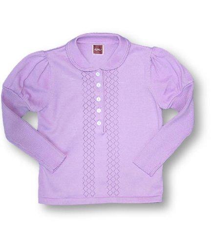 Tea Wisteria Anna Polo Jumper, Knitwear, Girls, 6