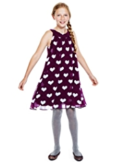 Autograph Heart Print Sleeveless Dress