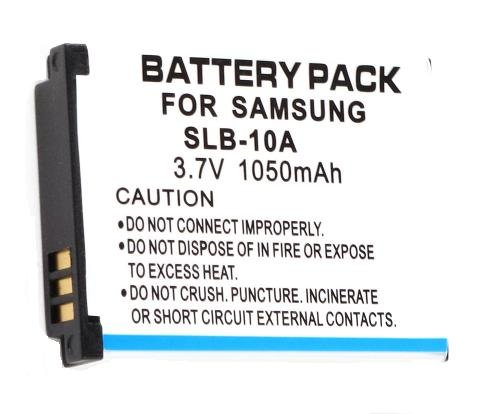 3.70V, 1050mAh, Li-ion, Replacement Digital Camera Battery for SAMSUNG SLB-10A