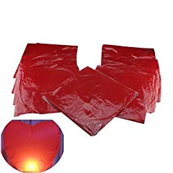 AGPtek&reg; 10 Pack Fire Sky Lantern Flying Paper Wish Balloon - Red Heart