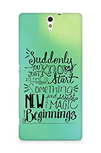 AMEZ start something new and the magic begins Back Cover For Sony Xperia C5