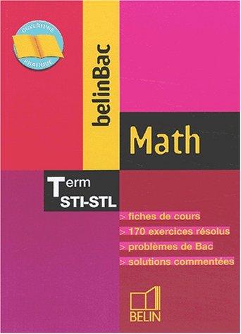 BelinBac : Math, terminale, Bac STI, STL