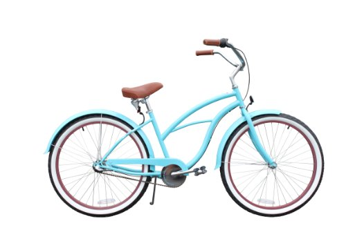 "sixthreezero Teal Women's 26"" multi-speed (3-speed) beach cruiser bike - teal"
