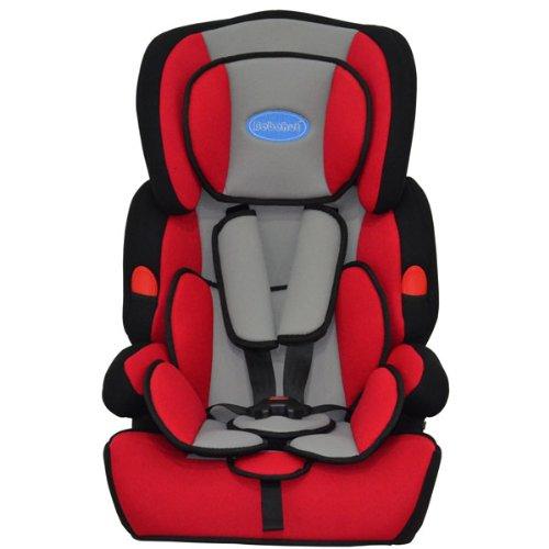 BEBEHUT Seggiolino porta-bimbo per auto normative I / II / III classi di peso 9- 36 kg colore: rosso/nero BAB001B