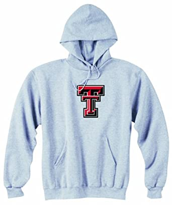 Champion NCAA Unisex Adult Texas Tech Red Raiders Powerblend Hood (Grey, Large) by Champion
