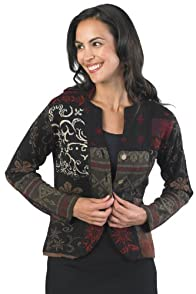 Tey-Art Patchwork Jacquard Fair Trade Alpaca Cardigan