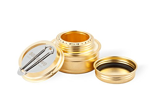 Solo Alcohol Burner - Spirit Alcohol Stove for Backpacking, Camping, Hiking or Use With Solo Stove.