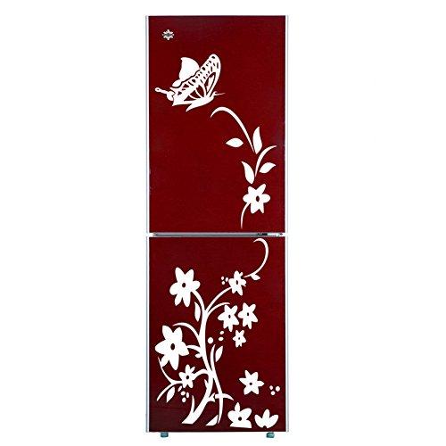 missofsweet butterfly flower vine k hlschrank aufkleber zitate wandbild dekoration kinderzimmer. Black Bedroom Furniture Sets. Home Design Ideas