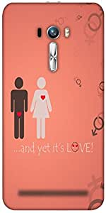 Snoogg And Yet Its Love Designer Protective Back Case Cover For Asus Zenfone ...