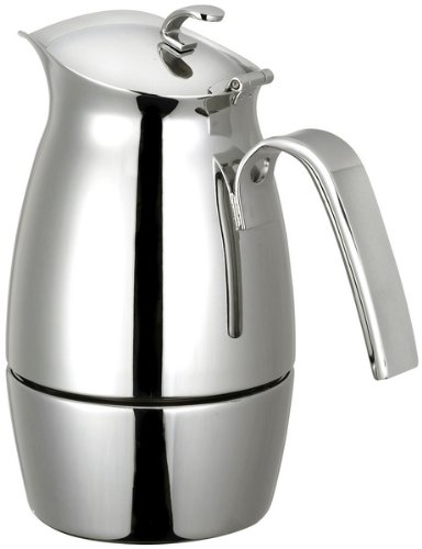 CUISINOX COF-B6 Bella 6-Cup Stainless Steel Stove Top Espresso Maker