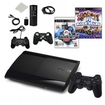 Playstation 3 Slim 500GB Bundle with 2 Games and Accessories