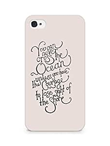 AMEZ you can never cross the Ocean Back Cover For Apple iPhone 4