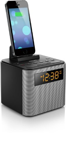 Philips Ajt3300/37 Bluetooth Clock Radio Iphone/Android Speaker Dock (Black)