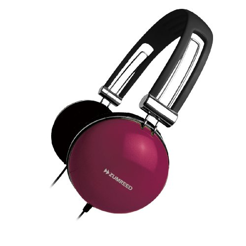 Zumreed Zhp-005 Retro Portable Stereo Headphones, Berry