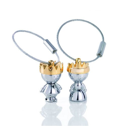 troika-little-king-and-little-queen-keyrings-gift-set-kr938ch