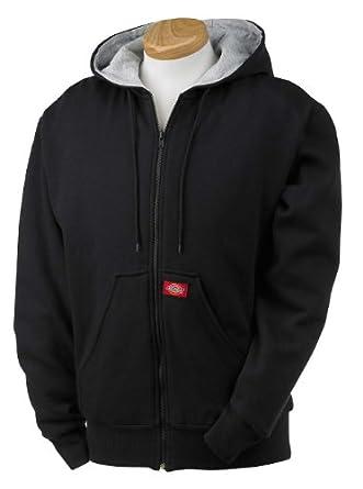 Dickies Adult Thermal-Lined Hooded Fleece Jacket - Black - 3XL