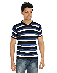 Silver Spring Blue And Black Super Combed Cotton T Shirt _ RVD015_L